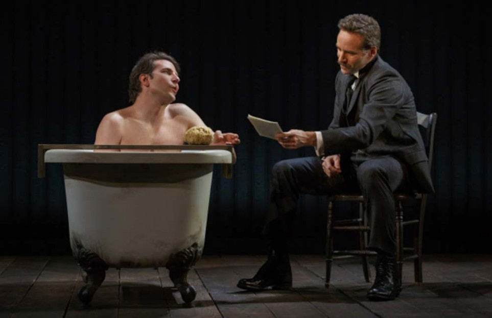 Bradley Cooper and Alessandro Nivola in The Elephant Man. Photo Joan Marcus 2014
