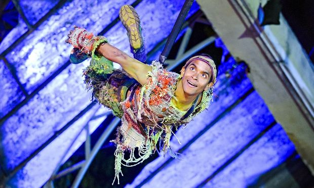 Hiran Abeysekera in Peter Pan at Regent's Park Open Air Theatre.